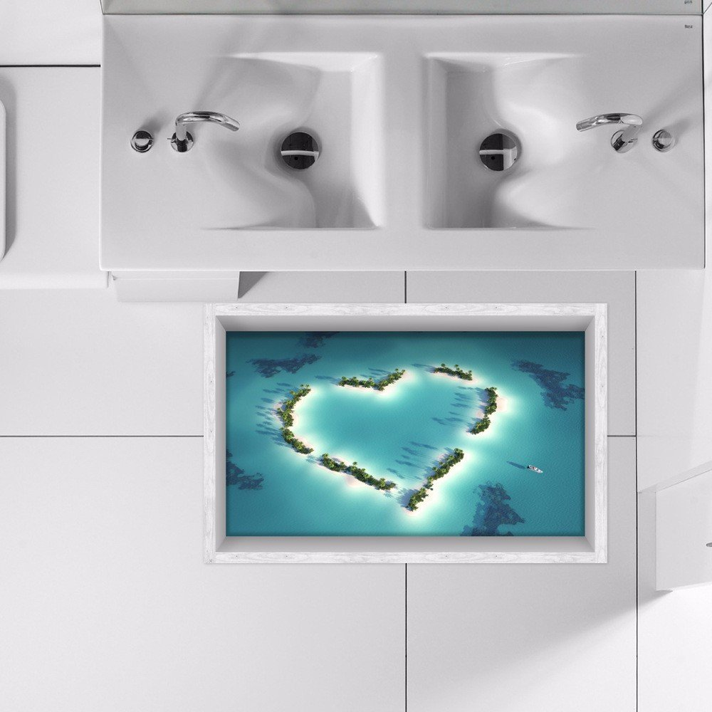 3D to (love) The bathrooms are non-slip surface living/Foyer/kitchen/dining/WC/non-slip resistant self-adhesive HD to (5890cm)