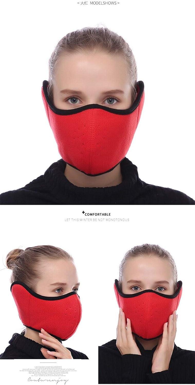 Winter Winddichte Maske Winter Kalt Beweis Maske Winddicht Ski Gesichtsmaske Halbes Gesicht Mund Wärmer Für Motorrad Winddicht Anti Staub Radfahren Skifahren Rot Baumarkt