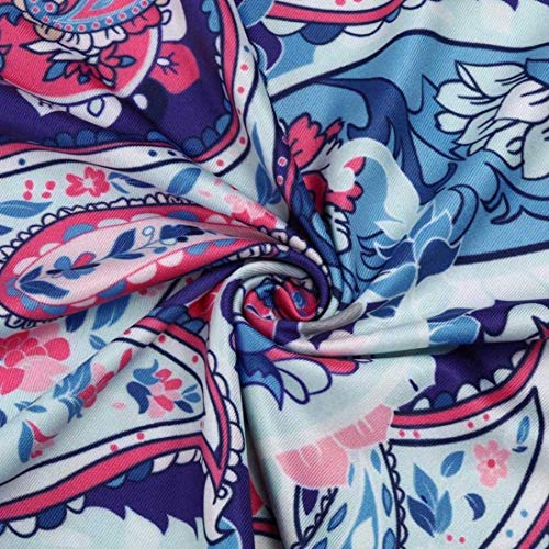 Mode Shirt Blau Blouse Modle Plier Et Bonne Manches Bouffant Cou Chemise Femme V Qualit Jeune Elgante Impression Courtes Style Irrgulier Top Spcial Mode De Top Blusen pxwBSXq4p