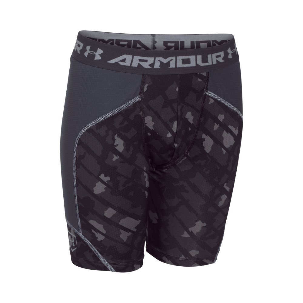 Under Armour Boys ' Noveltyスペーサスライダ B00ZC357HQ MD (10-12 Big Kids) x One Size|Black/ Stealth Gray/ Steel Black/ Stealth Gray/ Steel MD (10-12 Big Kids) x One Size