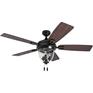 Honeywell Ceiling Fans 50615-01 Glencrest Ceiling Fan 52 Oil Rubbed Bronze
