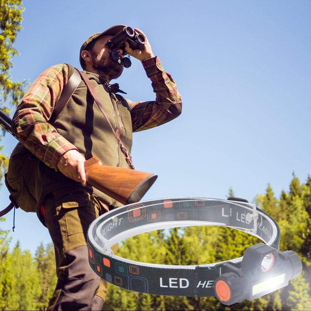 Zwindy Lampe Frontale LED /étanche /à 2 Modes USB Haute luminosit/é Rechargeable avec Lampe de Poche /à t/ête Blanche pour sp/él/éologie Sp/él/éologie Course /à Pied Chasse Randonn/ée Campi