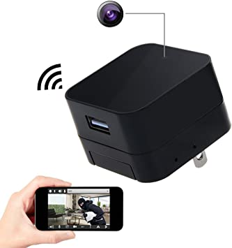 EU Charger Wireless Video Recorder Cam Full HD 1080P WIFI SPY Hidden Camera US