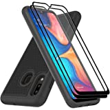 Dahkoiz Case Compatible for Samsung Galaxy A20/A30 Case with Tempered Glass Screen Protector, Sturdy Durable Armor Defender C
