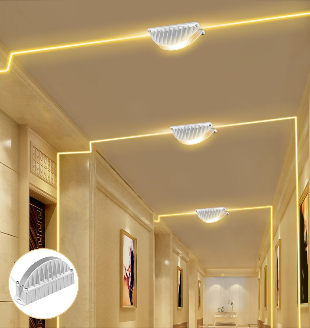 CINOTON LED 10W Window Light Garage Door Frame Lighting LED Wall Washer Light (Warm White)