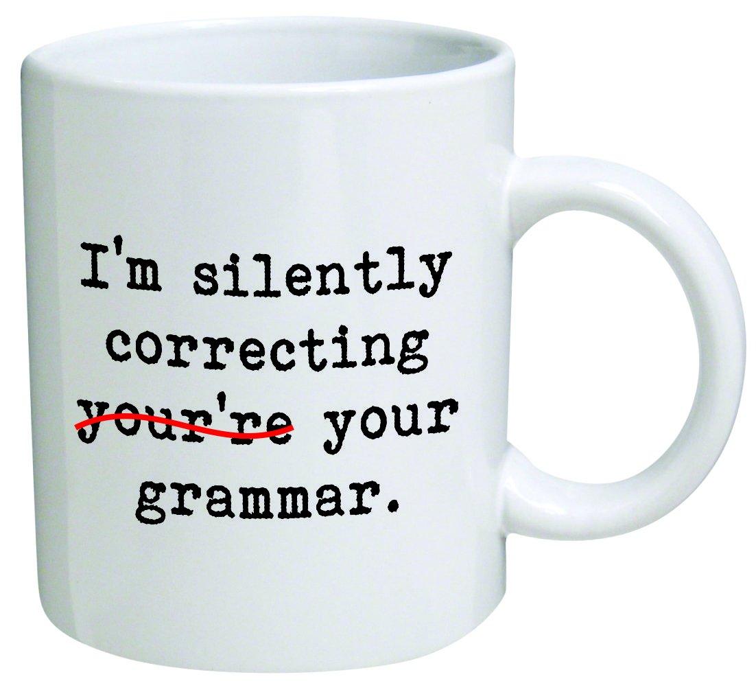 Heaven of Mugs I'm Silently correcting you're Your Grammar Coffee Mug, 11 Oz