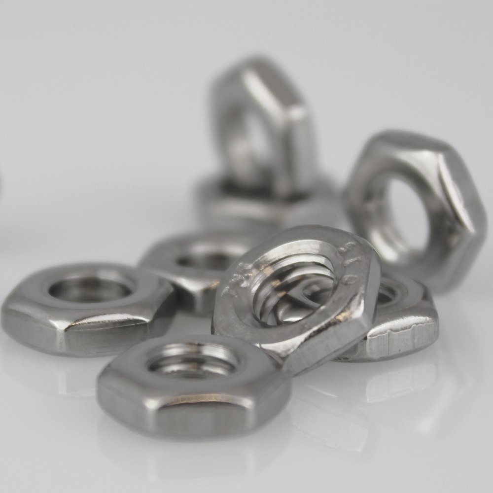 10 pcs tuercas hexagonales M16 baja Molde de DIN 439 acero inoxidable A2