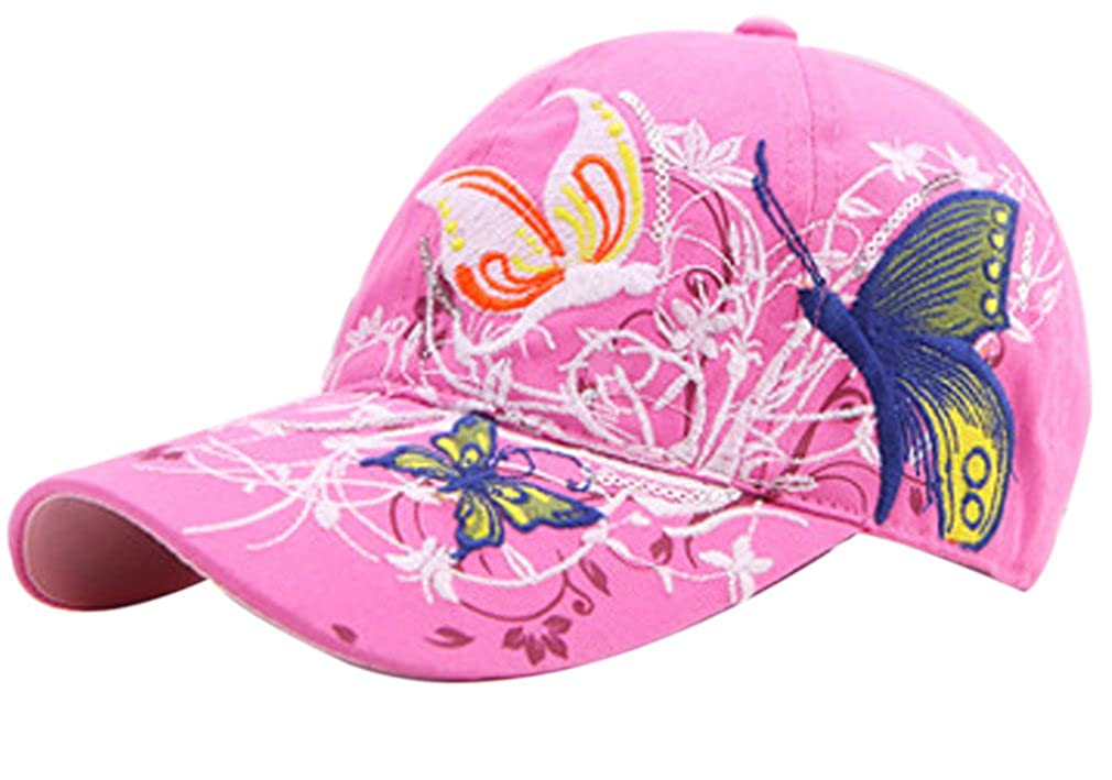 Belsen Girls Butterfly Embroidered Vintage Baseball Cap Snapback Trucker Hat
