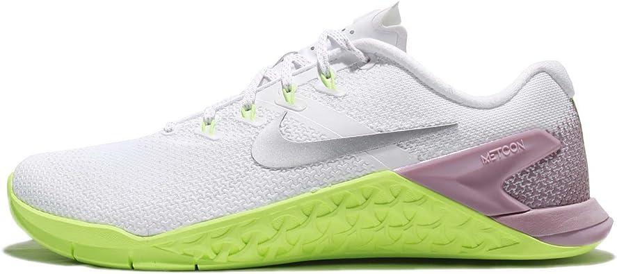 tierra parásito Evaporar  Amazon.com: Nike Metcon 4 - Zapatillas de entrenamiento para mujer, color  blanco y plateado: Shoes