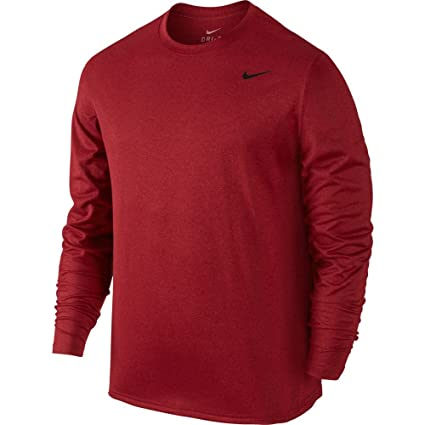 eae25cbd14f00 Image Unavailable. Image not available for. Color: Nike Mens Legend 2.0  Long Sleeve Dri-Fit Training Shirt Gym Red/Black 718837