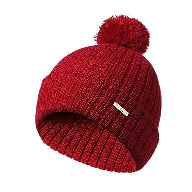 URIBAKE Men Women Baggy Warm Crochet Winter Wool Knit Ski Beanie ... 60e5ab1bc7c5