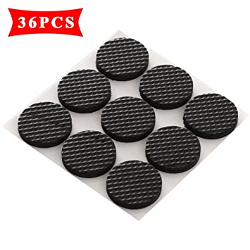 Premium Furniture Pads, Thick Non-Slip Rubber (No glue or Nails) Pad ...