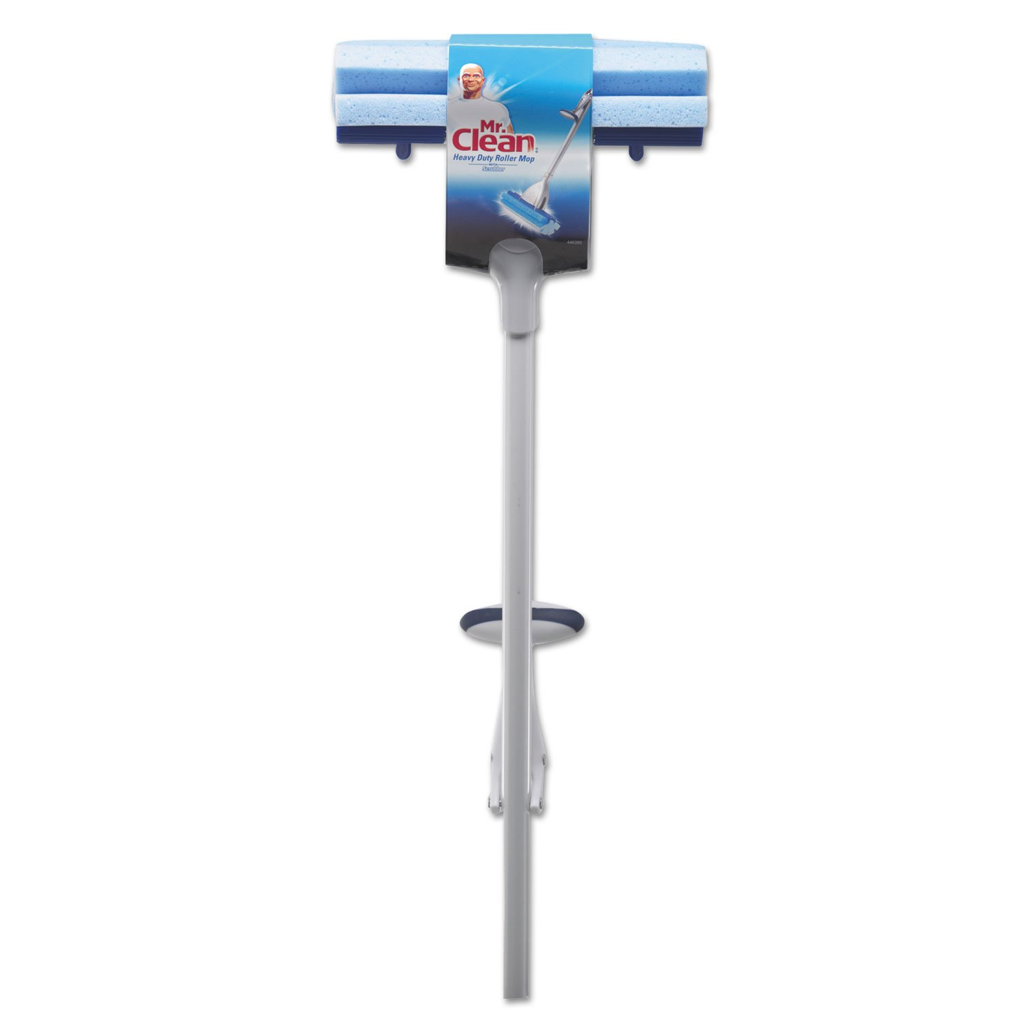Mr. Clean 446390 Heavy Duty Roller Mop, 45'' Length Handle, White/Blue