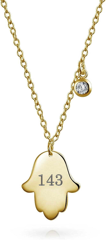 HAMSA ALEK Mini Hamsa Love Minimal Valentine\u2019s Day Gift Hand of Fatima Pendant LuckyCharm Gold Necklace Moroccan Evil Eye Protection Heart