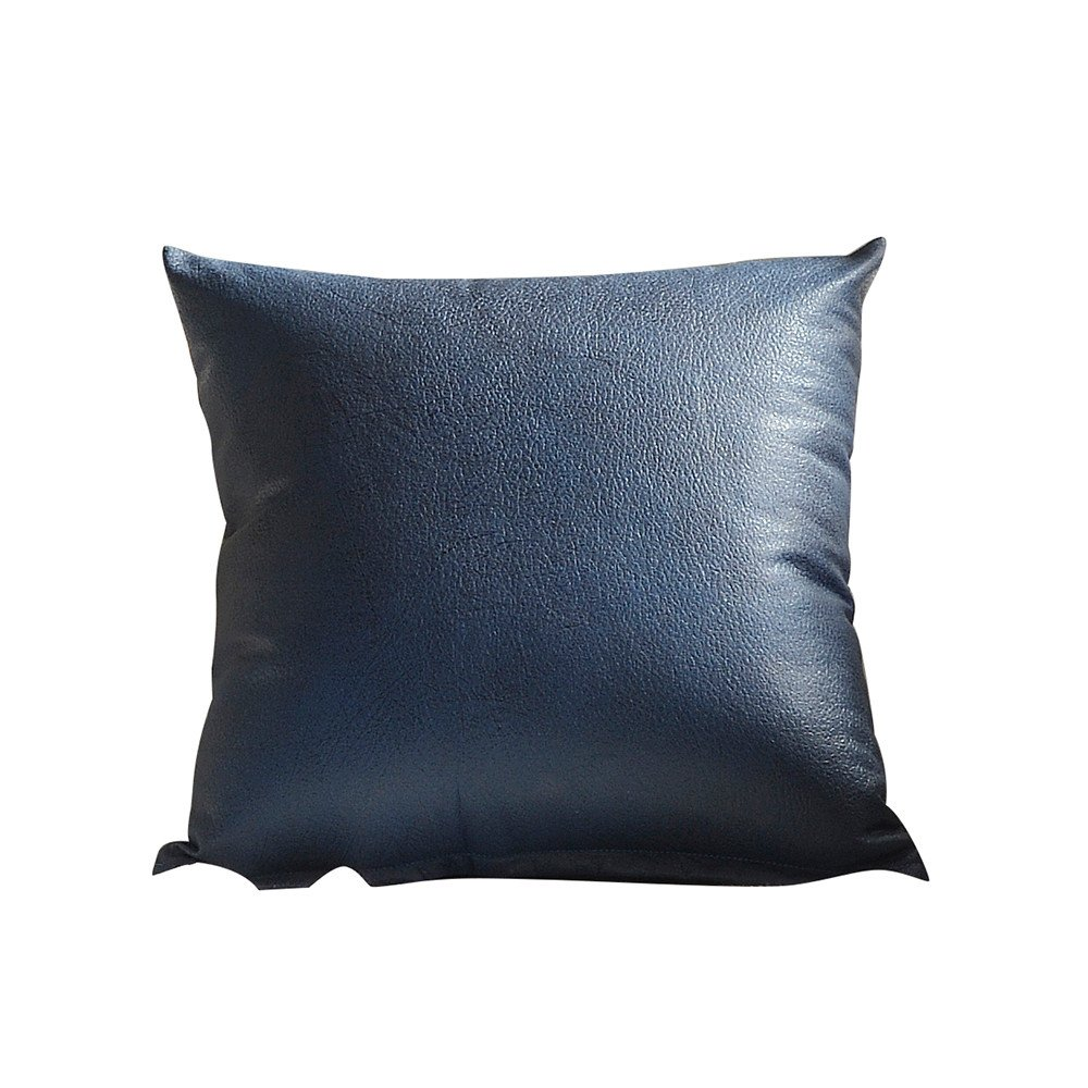 Weiliru Imitation Leather Sofa Waist Throw Cushion Cover Home Decor Cushion Cover Case Soft Square Decor