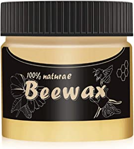 Wood Seasoning beeswax- for wood and furniture Natural odorless beeswax furniture to remove scratches, oils and dirt-Polishing wood to restore natural gloss, Non Toxic, Waterproof and Wear-Resistan