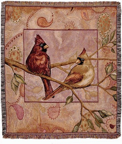 (Simply Home Cardinal Companions Tapestry Throw Blanket)