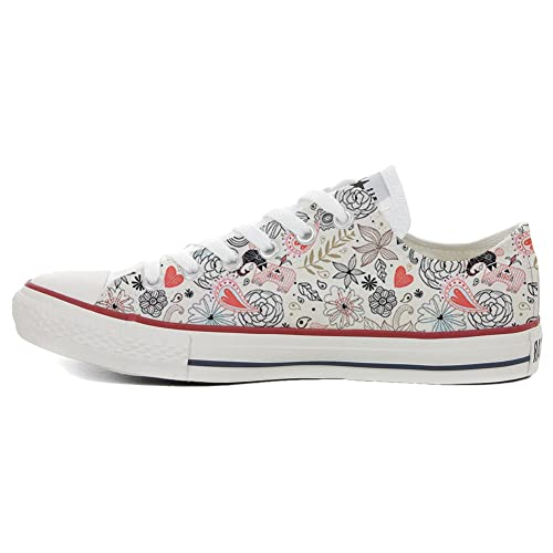 Make Your Shoes Converse Customized Adulte - chaussures coutume (produit artisanal) Delicate size 32 EU 7g3A5