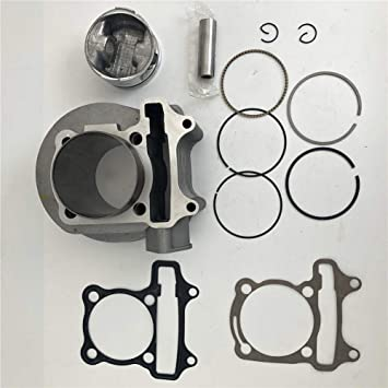 Engine Cylinder Motorcycle Engine Cylinder Kit Piston Gasket for Most GY6 150CC Scooter Engine