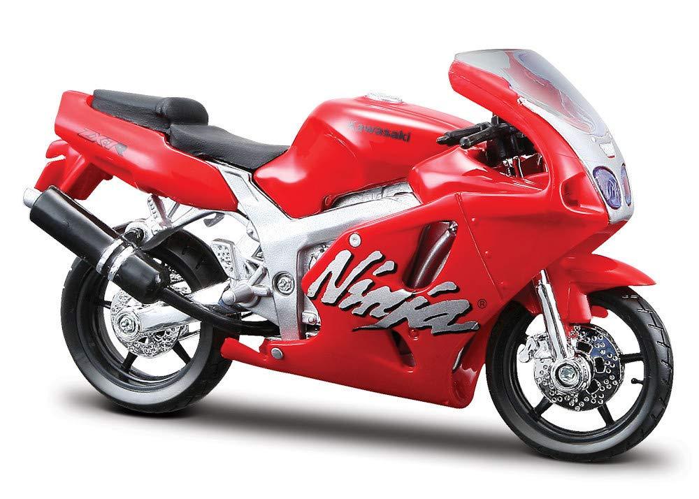 2000 Kawasaki Ninja ZX-7R [Bburago 51030], Rojo, 1:18 Die ...