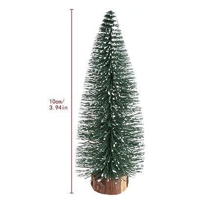 cici store small fake christmas treewhite wooden base xmas plant desktop decor 10cm - White Fake Christmas Tree