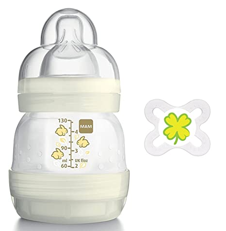 Mam Anti colic Botella 130 ml Plus mam Chupete Start 0 - 2 ...