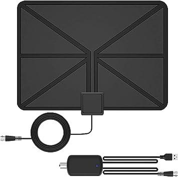 TOCYORIC Modern Loop Rabbit Ears Indoor TV Antenna, 15 Inch Extendable Dipoles, 4K 1080P VHF UHF, Tabletop Antenna, Digital HDTV Antenna, Smart TV ...
