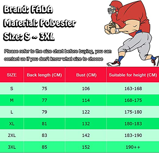 couleur Fada San Francisco 49ers Kaepernick Maillot de football am/éricain Rouge 3XL Mat/ériau