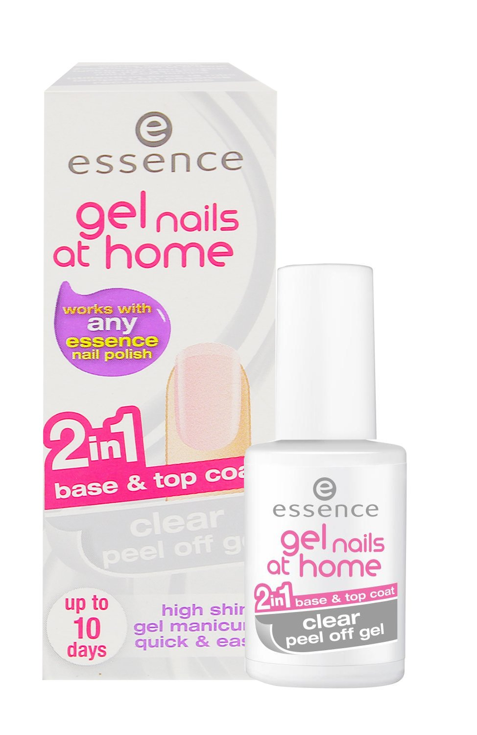 Essence Gel Nails At Home Clear Peel Off Gel 7ml 2In1 Base&Top Coat ...