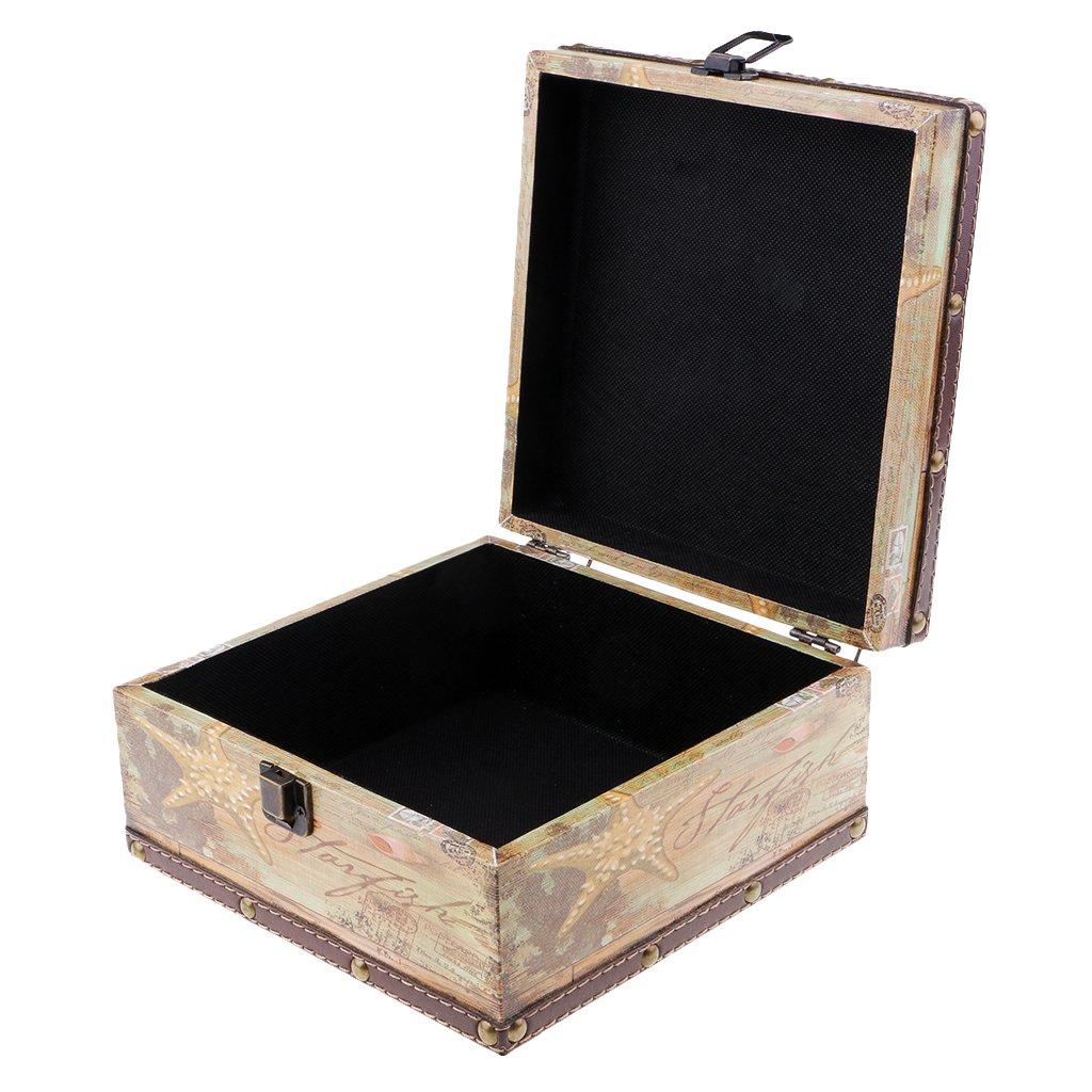 Amazon.com: D DOLITY - Caja de madera china hecha a mano ...