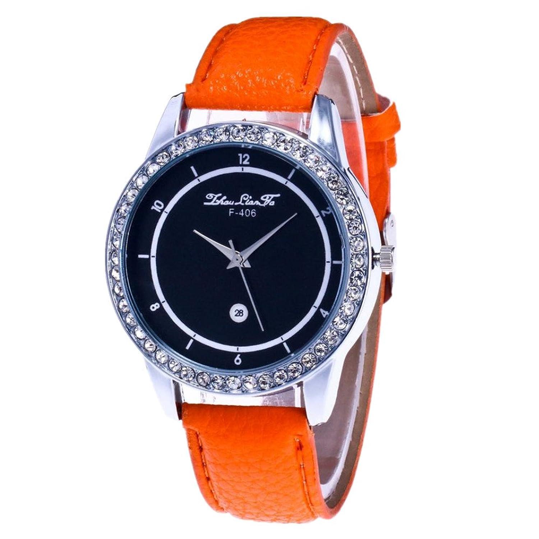 ユニセックス腕時計、Sinmaカジュアル腕時計PUレザーアナログクオーツ手首ラウンド腕時計 B0718XN7D5 イエロー