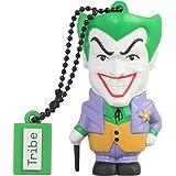 Tribe DC Comics Action Figure Joker Chiavetta USB da 16 GB Pendrive Memoria USB Flash Drive 2.0 Memory Stick, Idee Regalo Originali, Figurine 3D, Archiviazione Dati USB Gadget in PVC con Portachiavi - Multicolore