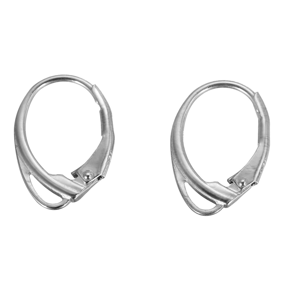 2PCS 925 Sterling Silver French Ear Wire Lever Back Open Loop Earring Hook DIY Findings 17mmx11mm Yin Feng 0AF0SA0F0R
