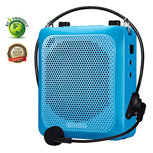 Voice Amplifier with Bluetooth,SHIDU Portable Microphone Headset with Speaker Personal Mini Pa System Outdoor Bluetooth Speaker for Teachers,Tours,Classroom,Elderly,Fitness Instructors,Singing by SHIDO