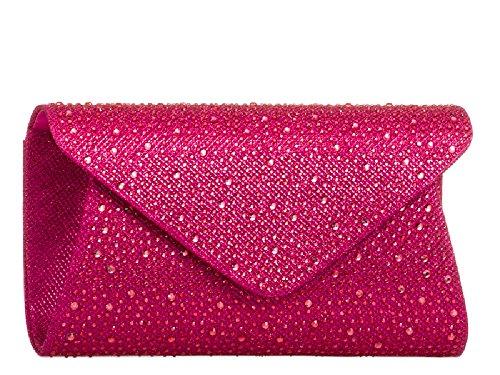 Designer Cocktail Bag Evening Style Grey Women's Purse Gem Party Envelope KL759 Clutch Ladies aw1x6RgR