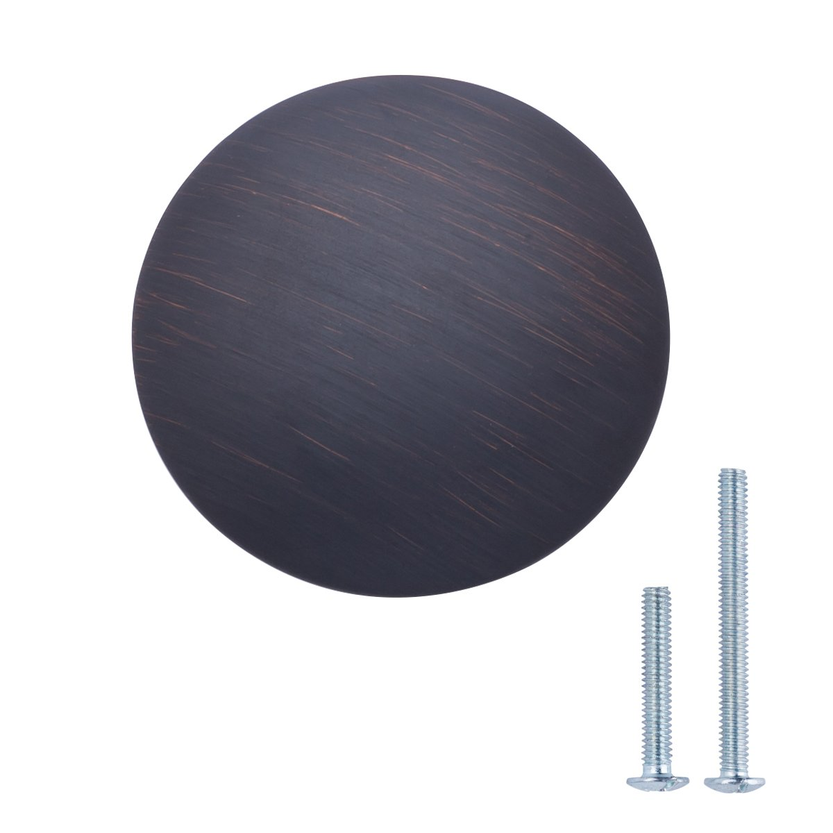 2,99 cm de di/ámetro Plata envejecidado Basics Pomo de armario redondo Paquete de 25