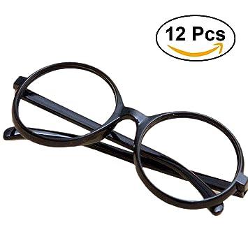 e9f0d3dec7851 Tinksky Lunettes de fête Lunettes noires Frame Harry Potter Wizard Nerd  Round Lunettes noires sans lunettes