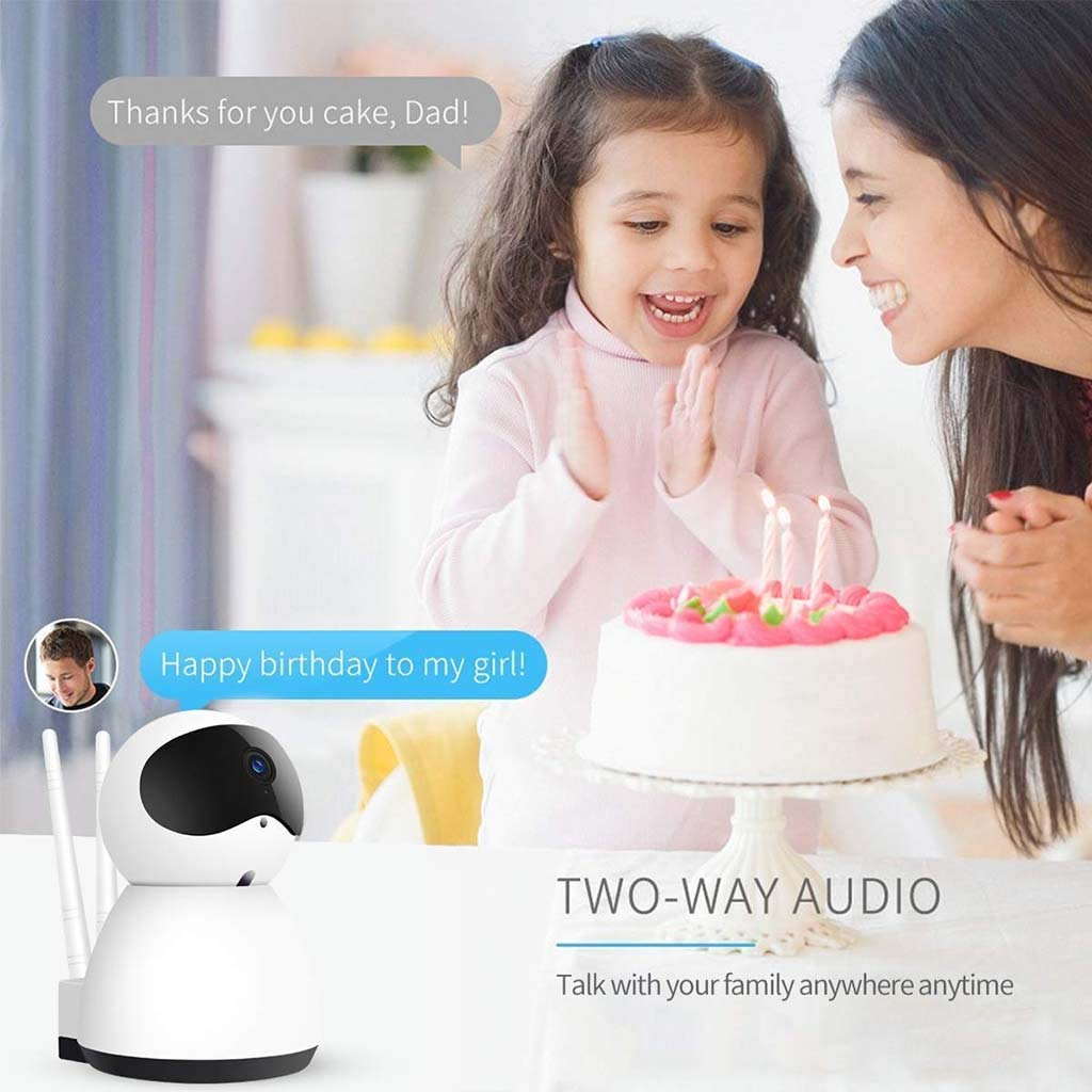 Wireless Indoor Camera with Night Version Motion Detection for Baby Home Monitor White Baby Monitor 1080P WiFi Security Camera