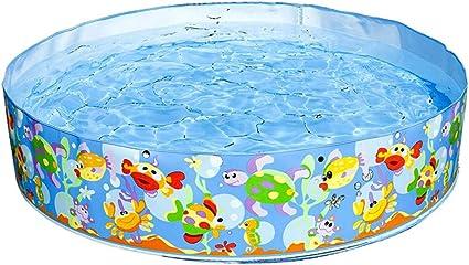 SUWIN Piscina Redonda de plástico Duro Ocean Park, Piscina ...