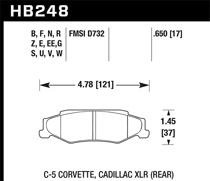 Rear Hawk Performance HB183G.585 Disc Brake Pad