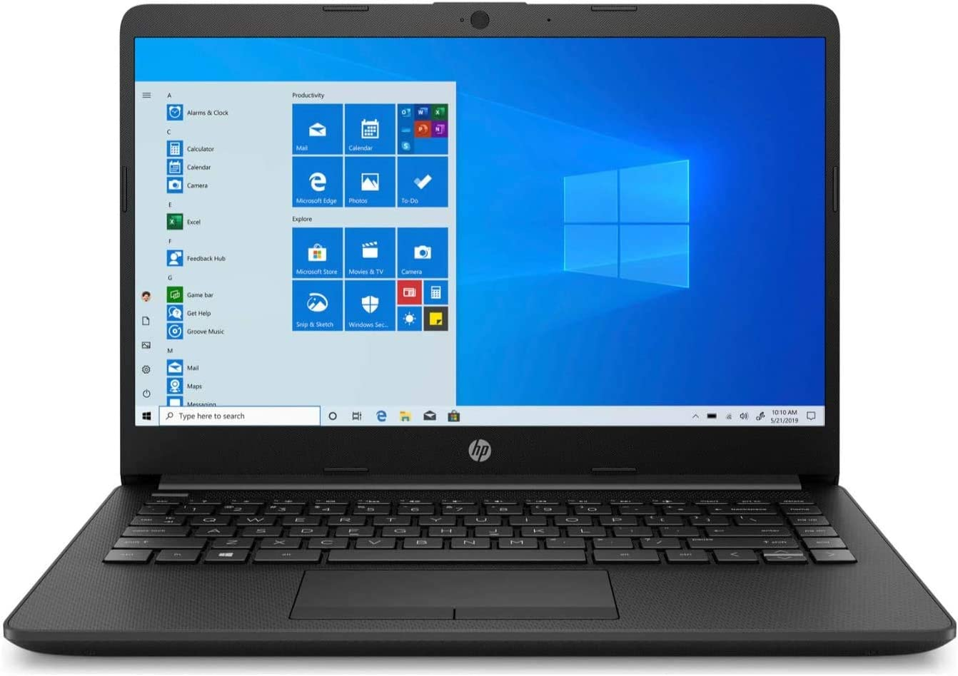 "Newest HP 14"" HD WLED Backlit High Performance Business Laptop, AMD Athlon Silver 3050U up to 3.2GHz, 4GB DDR4, 128GB SSD, Wireless-AC, HDMI, Bluetooth, Webcam, SD Card Reader, Windows 10 S (Renewed)"