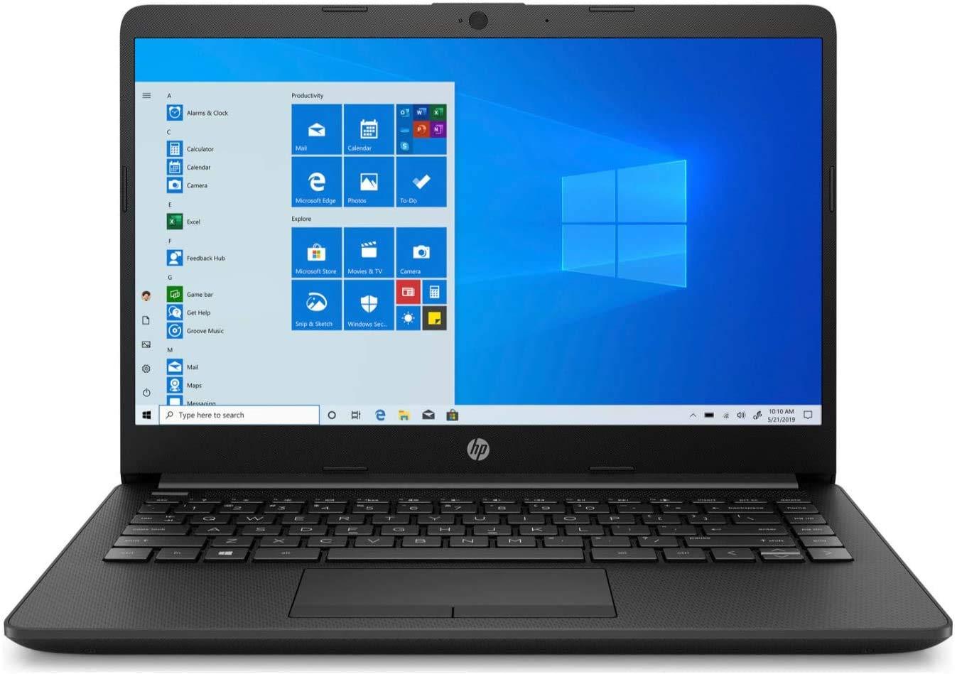"Newest HP 14"" HD WLED Backlit High Performance Business Laptop, AMD Athlon Silver 3050U up to 3.2GHz, 4GB DDR4, 128GB SSD, Wireless-AC, HDMI, Bluetooth, Webcam, SD Card Reader, Windows 10 S"