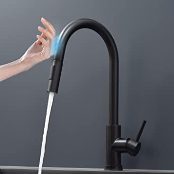 Multiple-Touch On Brushed Nickel Kitchen Faucet Sink Pull Down Sprayer Mixer Tap