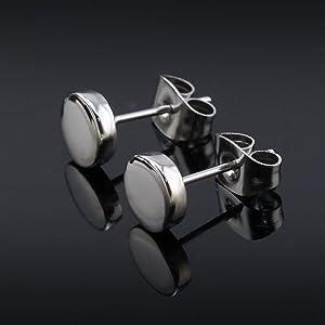 ZeSen Jewelry 5 Pares Pendientes de Acero Inoxidable Pendientes ...