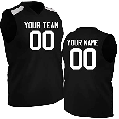 cc75d7b11 Hardkor Sports Customized Basketball Jersey Mesh Shoulder Black and White |  Youth Small