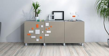 Credenza Ikea Nera : Credenza moderna nero grigio scuro e rosso blanc orange