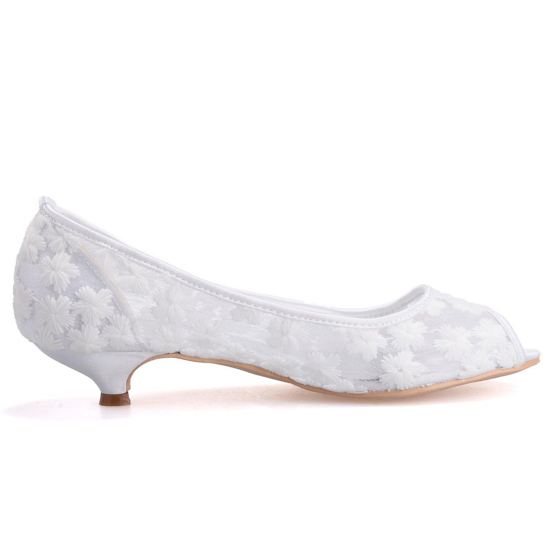 High Peep Zapatos Low Mujeres Toe Boda Elobaby Wr584 Heels Las De qz41Wn6B