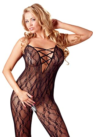 34f1db88d4 Mandy Mystery line Women s Plus Size Lace Crotchless Bodystocking ...