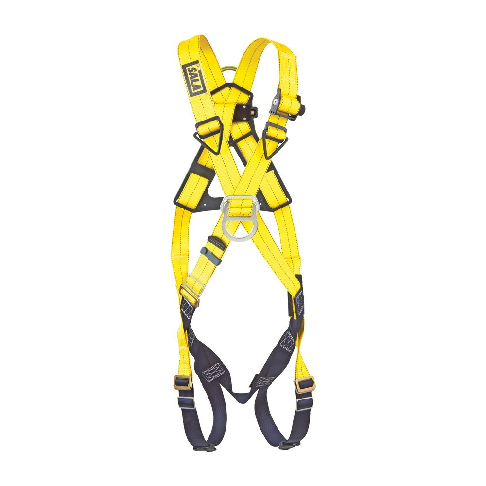 DBI/Sala 1101855 Delta Cross-Over Style Full Body Harness, Extra Large, Navy/Yellow