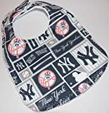 Handmade baby bib made from New York Yankees fabric